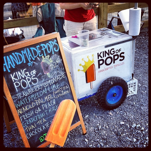 Post-fish tacos @thekingofpops Thai Tea #yummy  (Taken with Instagram at Atlanta Food Truck Park & Market)