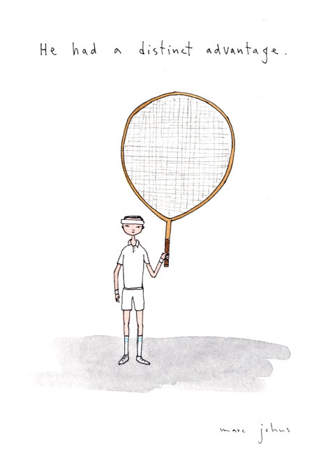 He Had a Distinct Advantage by Marc Johns