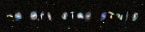 """We Are Star Stuff"" written in real Galaxieshttp://mygalaxies.co.uk/"