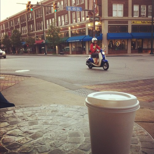 #coffee #gordonsquare #cleveland #moped. What an evening!! (Taken with instagram)