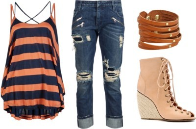 tank time by shekinahjohnson featuring cropped jeans