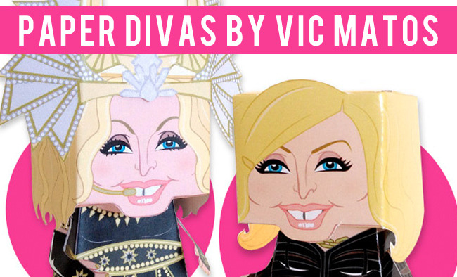 Paper Divas by Vic Matos http://jorgebarragan.net/jbdesign/2012/05/17/paper-divas-by-vic-matos/
