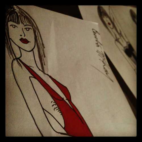 Have been sketching out a cruella deville themed collection. Kind of want to look like her.