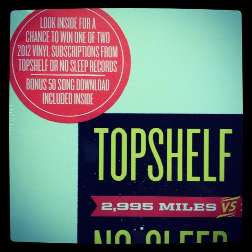 chrisnosleep:  The bonus to the $4.99 #topshelfvsnosleep sampler (Taken with instagram)
