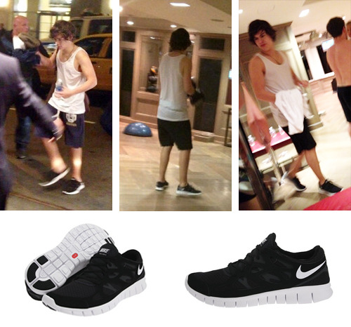 Harry at the gym Shoes: Nike Free Run+ 2 ($100) Thanks to  innocuous