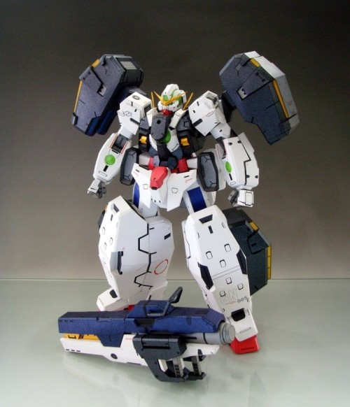 gunota:  1/60 GN-005 Gundam Virtue PAPERCRAFT Model I couldn't tell it was a papercraft model until I saw the title of the picture.
