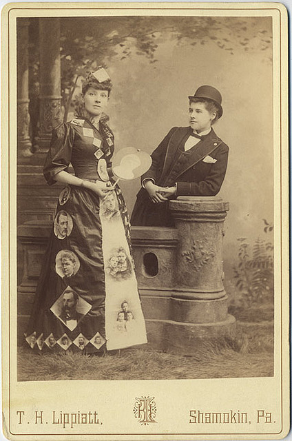 Photographic Dress - Cabinet Card by Photo_History on Flickr.