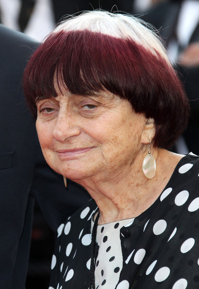 OMG I love her hair! Agnes Varda at Cannes