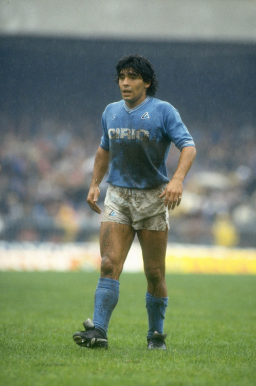 footballarchive:  Maradona, SSC Napoli, 1984/85. Source: Walla!