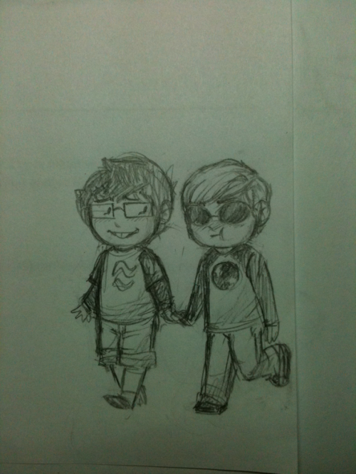 gemeva:  gemeva:  Little doodle of John and Dave. I dunno if they're kids or chibis or what??? mehhhhh  guys why does this have almost 100 notes… tumblr……  IT MUST GET TO 100!!!