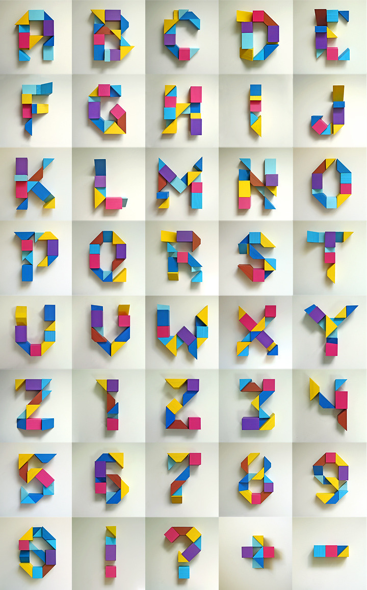 3D typography by 3Dtypographybook