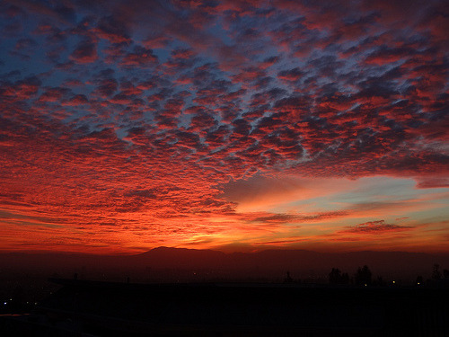 santiago-de-chile:  'Red Clouds'