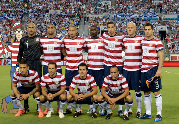 The US team was nowhere to be found tonight. I blame the shirt. (via)