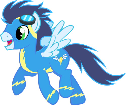 Soarin (In scenes of MLP) Hot and fast! Ain't he?