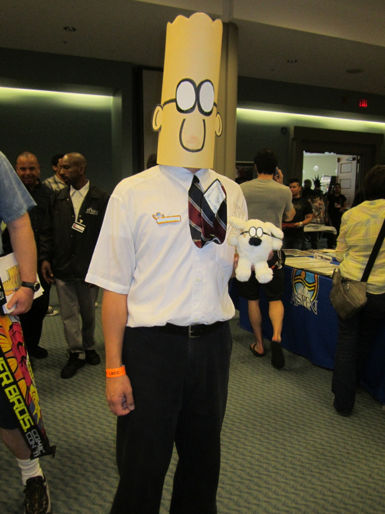 Dilbert cosplay spotted at Long Beach Comic Expo.