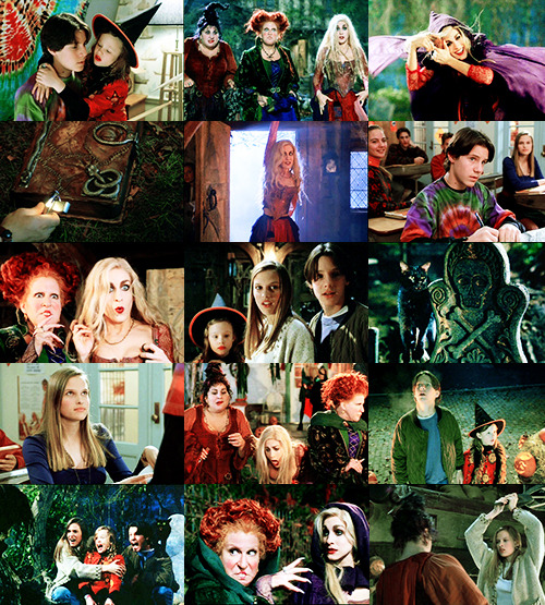 MOVIES I COULD WATCH FOREVER AND EVER//Hocus Pocus (1993) ♫ Come little children, I'll take thee away, into a land of enchantment.Come little children, the times come to play, here in my garden of magic. ♫