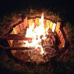 bonfire in the pit. #firepit #fire #bonfire #tashsebastian #igers #statigram #love #igmasters  (Taken with instagram)