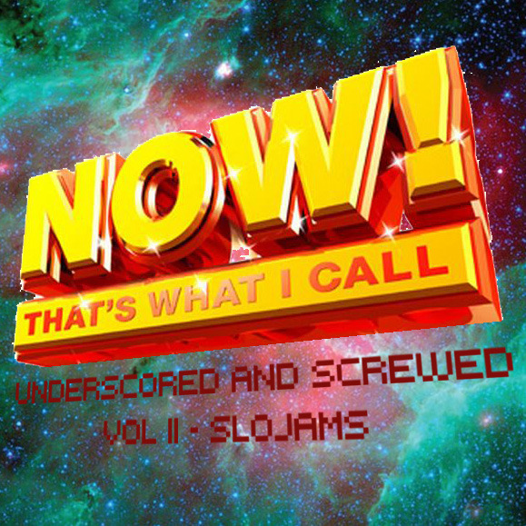 Now That's What I Call UNDERSCORED & SCREWED Vol II - SLOJAMS Vol. I (here) was more of an assorted collection of the better tracks I've done that flowed some kind of well together. Vol II is more thematic- these tracks are slower and a lot more heavy-hitting (for me anyway). I listen to these a lot more than the ones on Vol. I. Mood music for when your mood is down, and you want it to go even further down. Tracklist: St. Vincent - Champagne Year Lil Wayne feat. T-Pain - How to Hate Drake - Fall For Your Type The Weeknd - Loft Music T-Pain - I'm Sprung The Weeknd - Wicked Games Radiohead - Last Flowers to the Hospital The Weeknd - High For This John Legend - Again M83 - Until the Night is Over Al Green - I Wish You Were Here Drake - The Resistance Download at: http://www.mediafire.com/?jtyry60mccn4y76