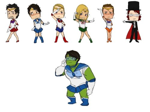 The Sailor Avengers by ~rabbitzoro