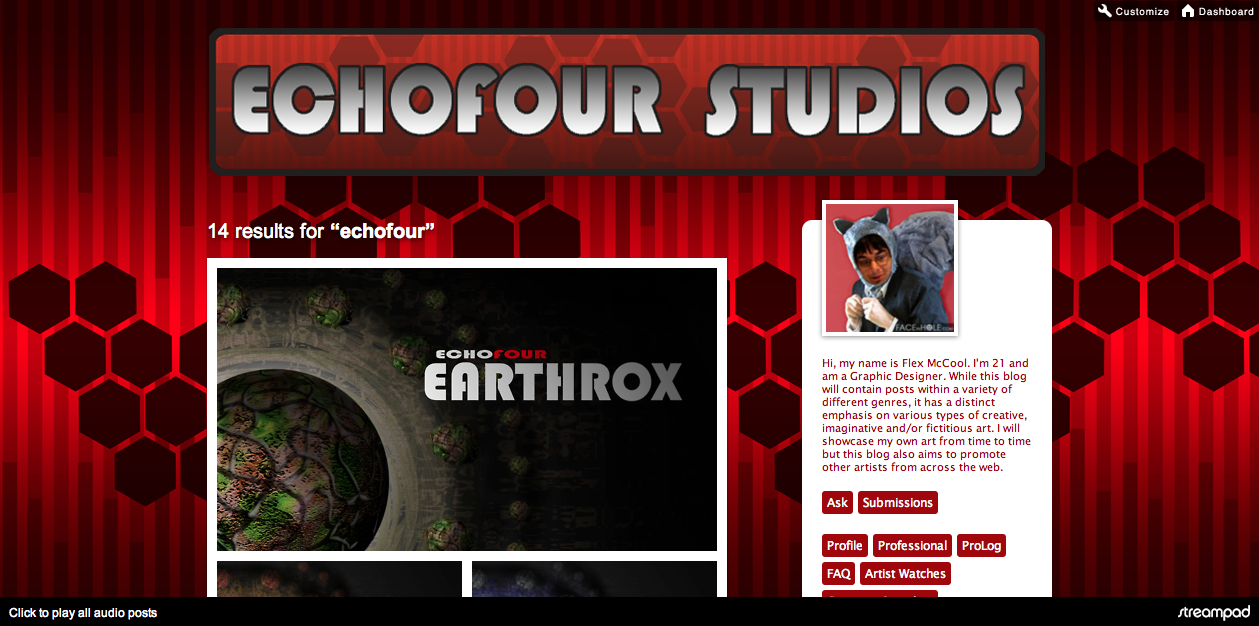 The Echofour Studios Tumblr Page has a slick new look….