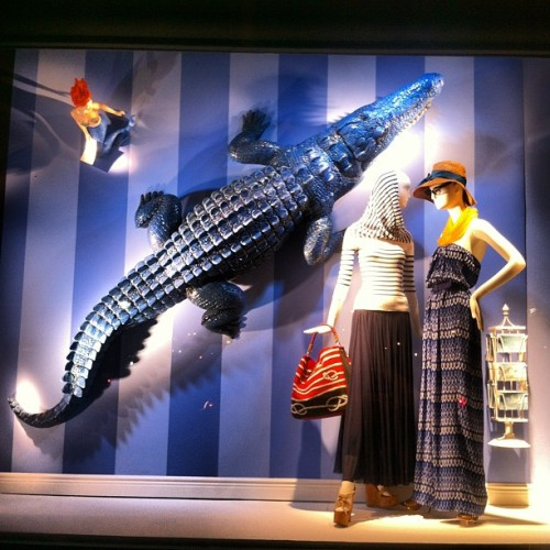bergdorfgoodman:  There's a mermaid & a giant alligator in our window, as well as @jeanp_gaultier & @thakoonny #bgwindows (Taken with instagram)
