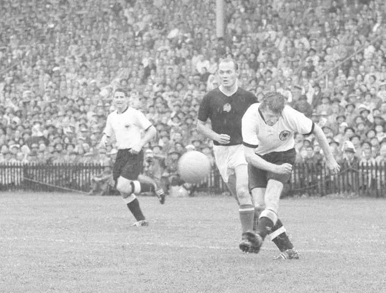bundesligaclassic:  One of Germany's biggest ever defeats came in 1954 in the group stage of the World Cup against Hungary, then considered the best team in the world.  The Germans lost the game 8-3.  They met again in the final which Germany won 3-2 against all odds, still considered one of the biggest upset in football history.