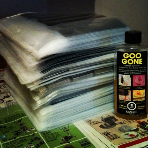 Every photo I've ever taken, and a bottle of GOO GONE (Taken with instagram)