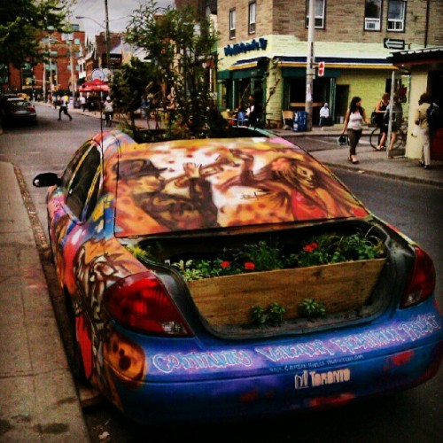 fivesandsevens:  Garden Car in Kensington Market (Taken with instagram)