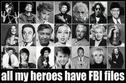 theaquabrat:  Top Row: Tupac Shakur, Bob Dylan, Lucille Ball, Jimi Hendrix, Albert Einstein, John Lennon, Malcolm X Middle Row: Janis Joplin, Lenny Bruce, Caesar Chavez, Josephine Baker, William Faulkner, Marilyn Monroe, Pablo Picasso Bottom Row: Jack London, Jane Fonda, Abbie Hoffman, Brian Wilson, Rev. Martin Luther King, Andy Warhol, Lilian Hellman