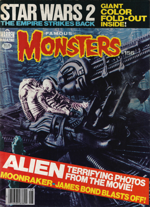 "spaceleech:  Famous Monsters issue 156. It feels weird seeing Empire referred to as ""Star Wars 2."" Oh, and there's a Space Jockey."