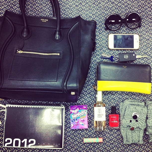 What's in Thessy's bag today? #celine #saboskirt (Taken with instagram)
