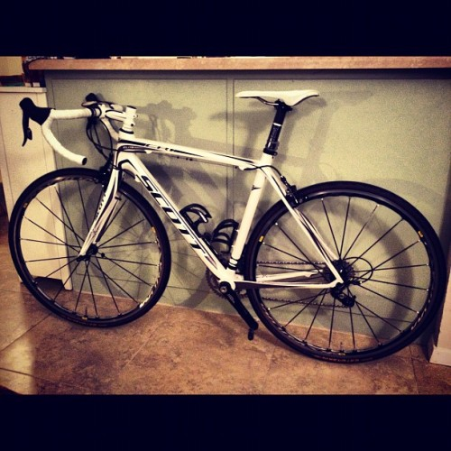China White is home! All tweaked & ready to go! #CantWait #bikes #cycling #Scott #CR1Elite #BikeATX  (Taken with instagram)