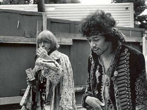 whiterose91:  Brian Jones and Jimi Hendrix.