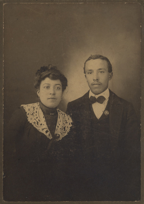 Hallie & Husband Early 1900's [Saulsberry Family Album] ©WaheedPhotoArchive, 2012