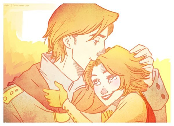 becausesometimesdreamsdocometrue:  More Flynnpunzel cuteness by viria13.  my love for you by *viria13