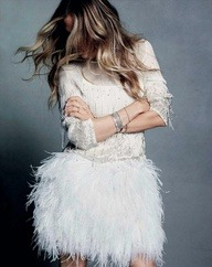 Thursday morning inspiration continued…sequins and feathers…