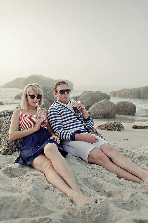 Couple in Nautical OutfitsSource: The Pretty BlogMore photos like this on http://iamhazelle.tumblr.com. :)