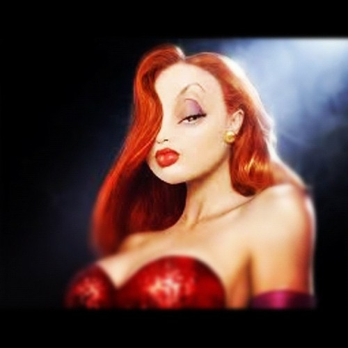 People say I look like her. Is that true? #jessica rabbit #disney #sexy (Taken with instagram)
