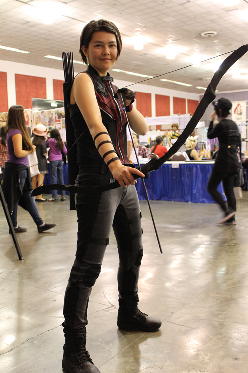 Photos of my Hawkeye cosplay, taken by Vince D'Alessio (ty man you're awesome) I made the whole thing in a week, so the pants and everything else was pretty rushed haha.