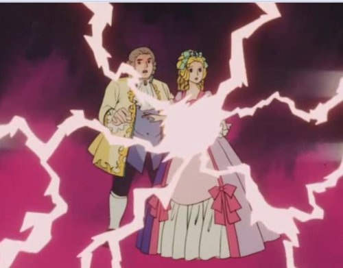 Now Marie Antoinette and her husband appear to have electric powers. Lightning orgy?