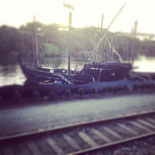 238/365 Niña and Pinta on Flickr.Via Flickr: Richmond has two historically accurate caravel ships docked in the river. What does your city have?