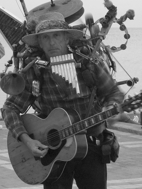 One-man band street musician in Key West, Florida, 2007 by jster91