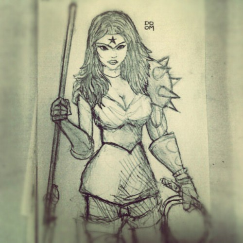 Wonder Woman Amazon Warrior sketch. Check out my latest sketches on Instagram: DOOMCMYK