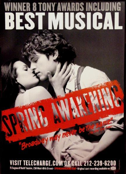 "Currently listening into the ""Spring Awakening"" Musical Soundtrack. Loving Jonathan Groff and Lea Michele's voice."