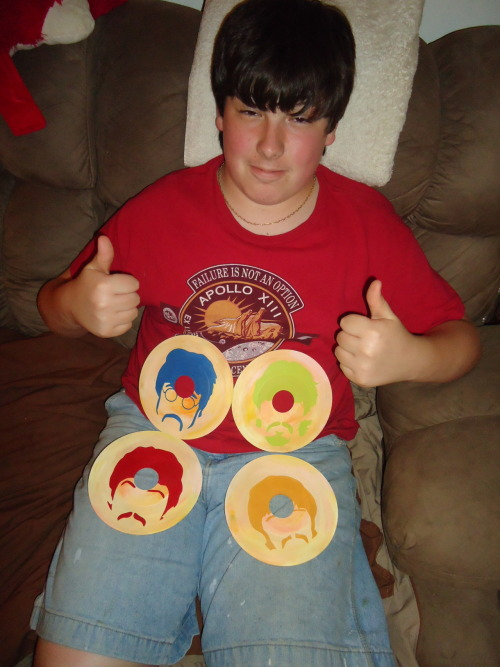 Nick and his set of Beatles records!