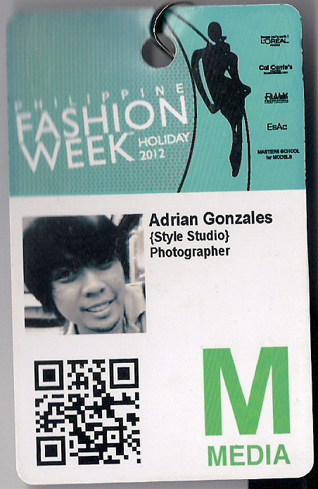 A remnant from my first Philippine Fashion Week experience! :-D