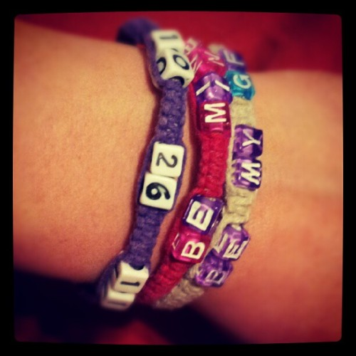 Bracelets my girlfriend has made me <3 (Taken with instagram)