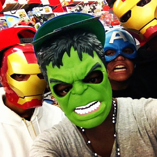 In Walmart w/ @trillmars @teexjaye @negridoyo_ (Taken with instagram)