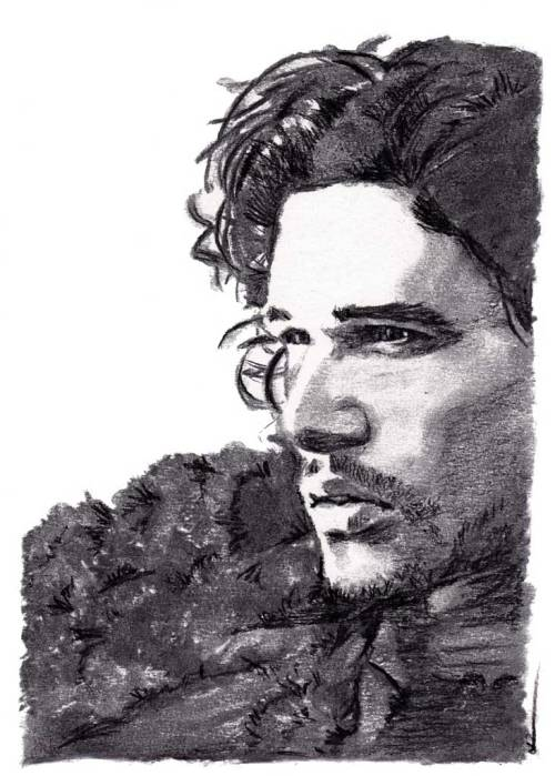 Jon Snow (Kit Harington). Dark & white charcoal pencil over medium vine charcoal. Prints available here:http://dpart.smugmug.com/buy/23178382_7KPf8K/1880675802_jLPDdMF/