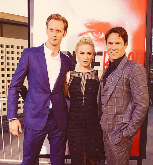 Alexander Skarsgard, Anna Paquin & Stephen Moyer @ season 5 True Blood premiere in Hollywood, Ca 5.30.12